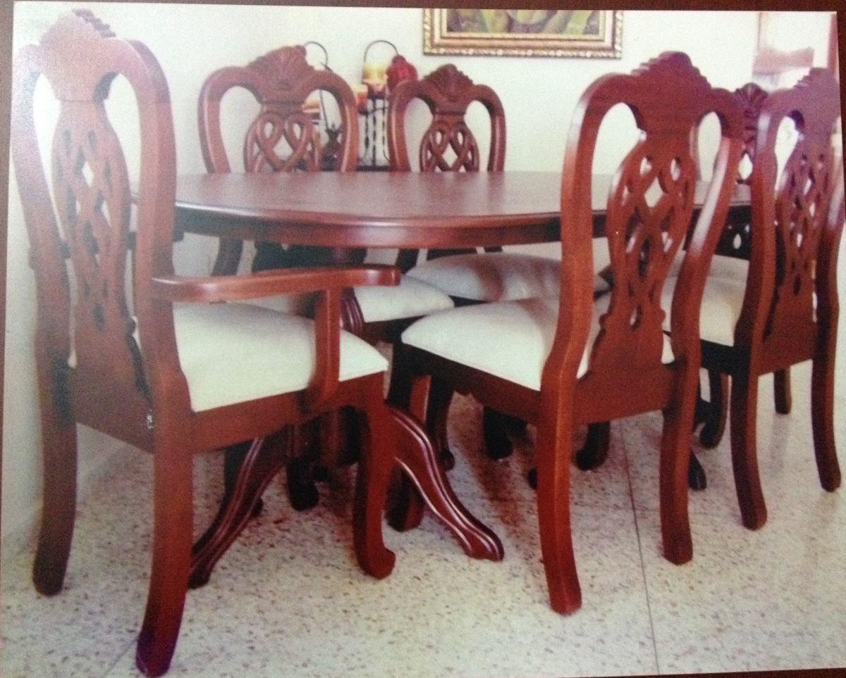 Juego de comedor 6 sillas en madera americana 35 000 for Sillas de comedor de madera precios